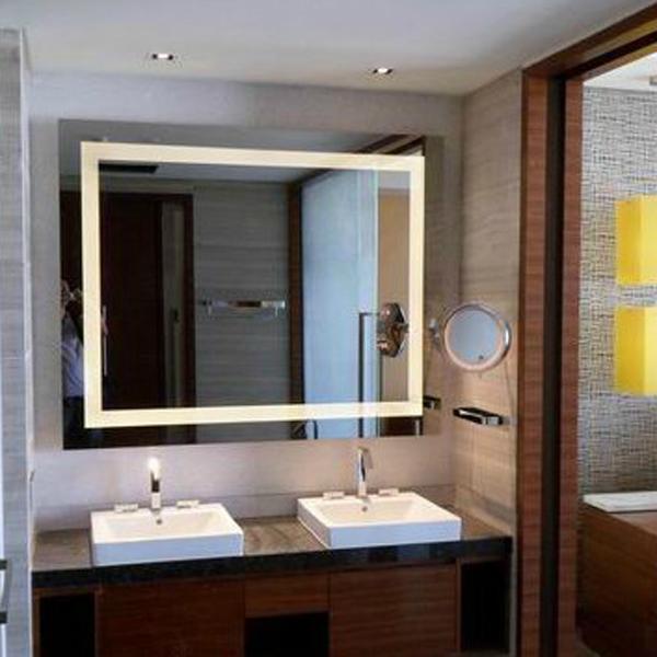 espejos de bao vanidades con luz led espejo enmarcado
