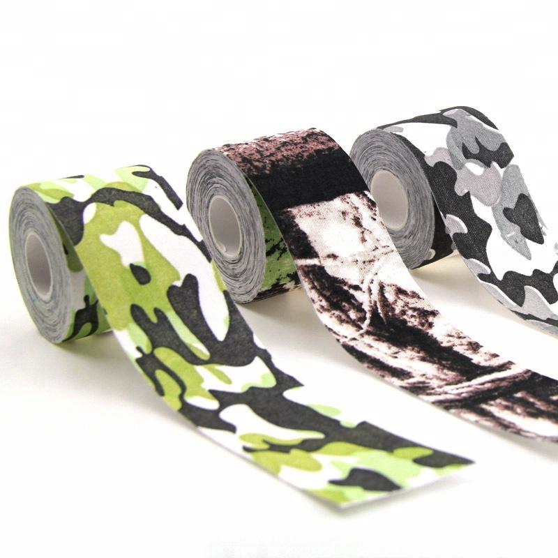 95 katoen en 5% spandex best selling hoge kwaliteit camo athletic kinesiologie tape