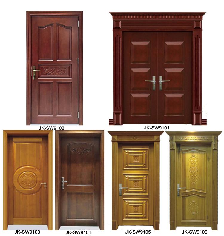 Jk W9043 Solid Oak Wood Entrance Door With Painting Buy