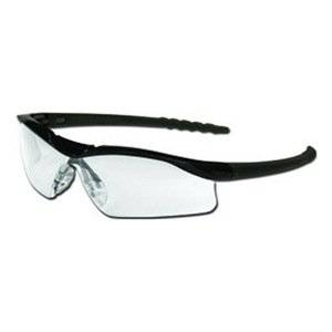 a77e505f56ce Get Quotations · Mcr Safety MCR DL112 Dallas Safety Glasses - Black with  Gray Lens