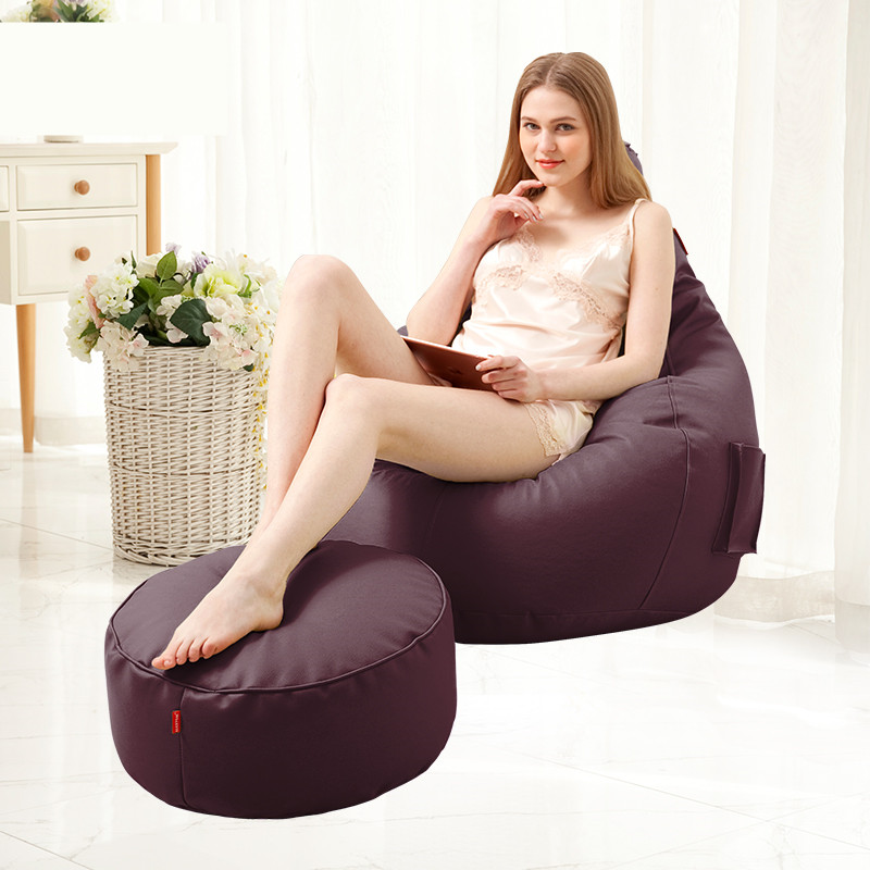 Bean Bag Modern Home Chaise Lounge Sofa With An Ottoman