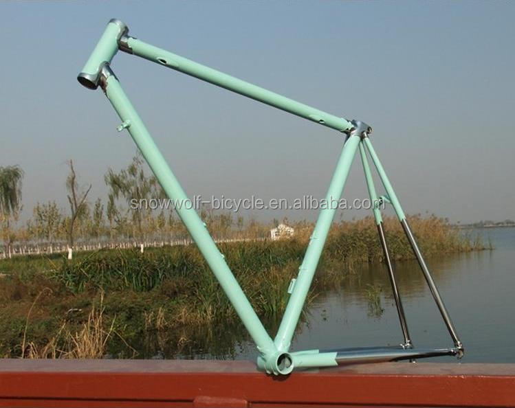 Vintage 700C track fixie bicycle frame CR-MO lugged bicycle frame SW-F-M16001