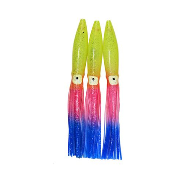 Offshore fishing soft colorful trolling bulbhead squid skirts
