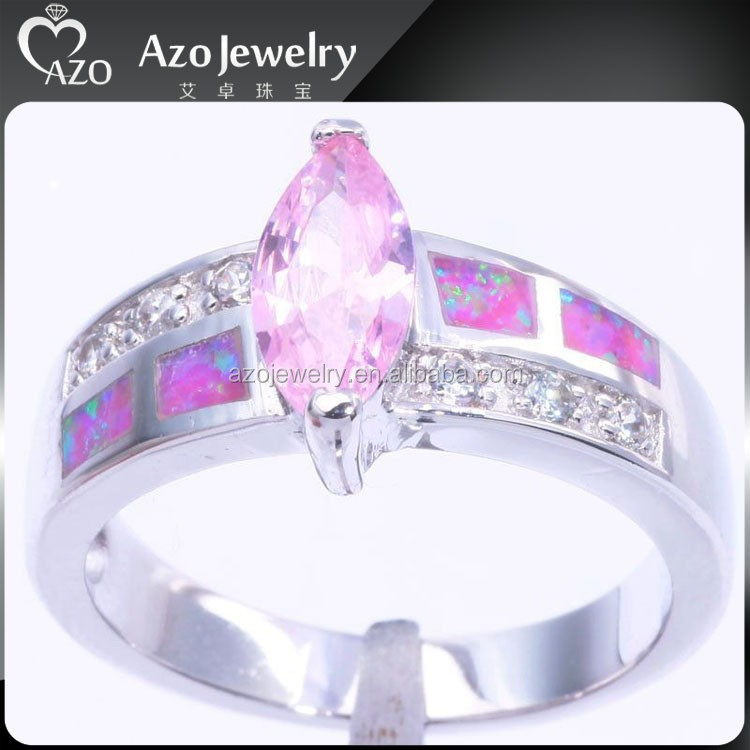 Noble 925 Sterling Silver Pink Opal Sterns Wedding Rings Catalogue ...