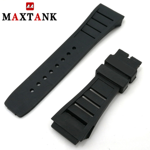 high quality replacement silicone rubber wrist watch band watch strap
