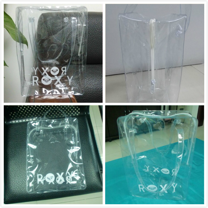 Pvc cosmetic handle bag