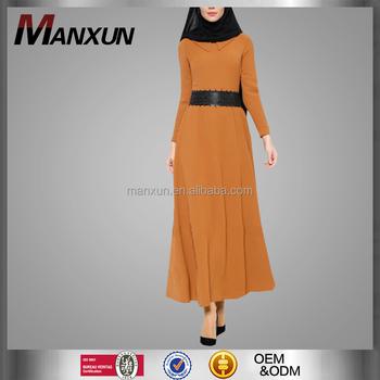 8996cc39dd82 Fancy Muslim Abaya Kuwait Dubai Long Sleeves Dress Elegant Maxi Dress With  Beautiful Belt Women