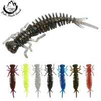 Discount Fishing Gear 50mm 75mm 100mm Peche Worm For 6pcs/lot Soft Plastic Lure