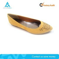 flat suede no heel dress shoe , ballet flat wedding shoe