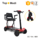 Topmedi TEW128 light weight Automatic folding electric mobility scooter with four wheels for adult