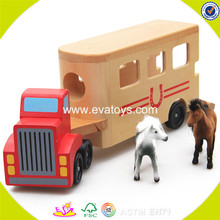 2017 wholesale baby wooden animal car toy popular wooden animal car toy W04A152