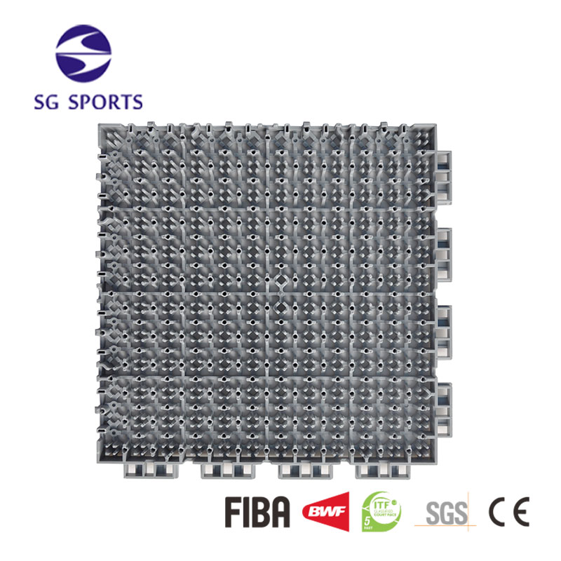 Eco-friendly basketball/badminton/volleyball pp interlock sports flooring