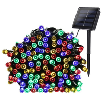 Gupro Solar Christmas Lights 22m 200 LED Multi-color 8 Modes Solar Fairy String Lights For Outdoor Wedding Christmas Party