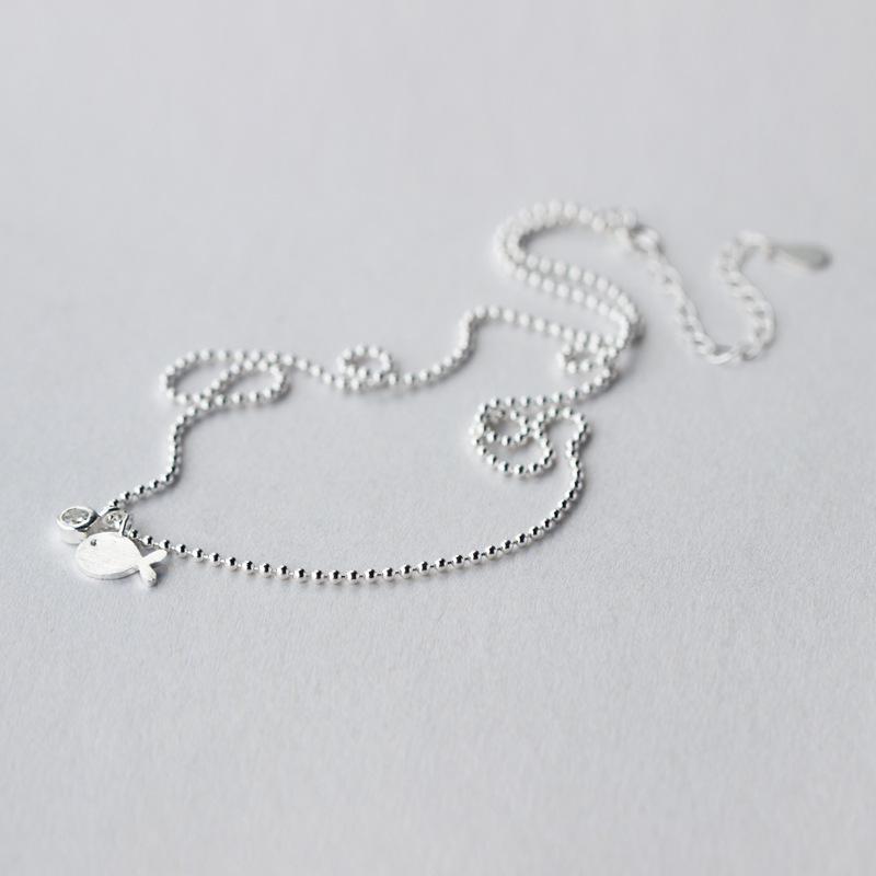 Poisson Collier Charms Bijoux Tibet pendentif en argent chaîne Collier