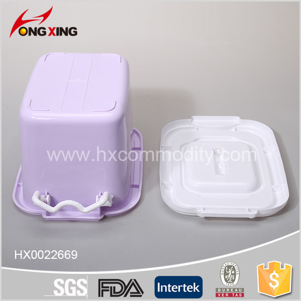 10l Durable Stackable Plastic Storage Box Containers With Lid