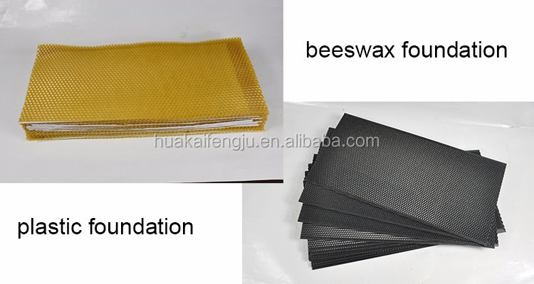 langstroth and dadant plastic beeswax beekeeping foundation