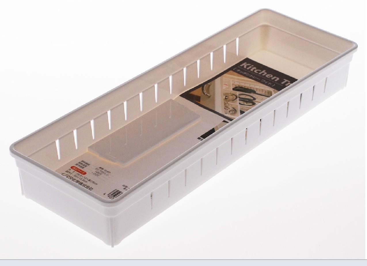 japan plastic kitchen cabinet drawer cutlery fork knife bathroom cosmetic organizer storage box. Black Bedroom Furniture Sets. Home Design Ideas