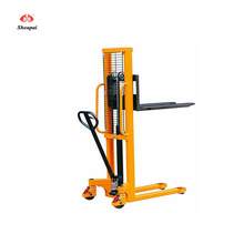2000KG Lifting height 1600mm Manual stacker hydraulic lifter machine