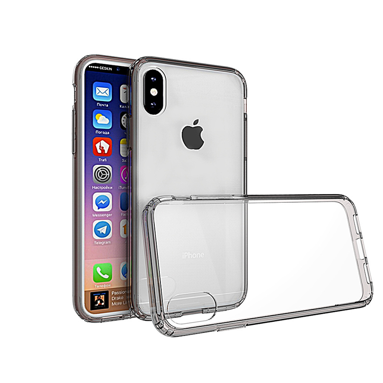 Phone Accessories Best Seller TPU Plastic Clear Case for iphone X