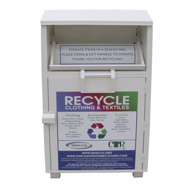 Container for used clothing recycling steel box used clothes donation bin