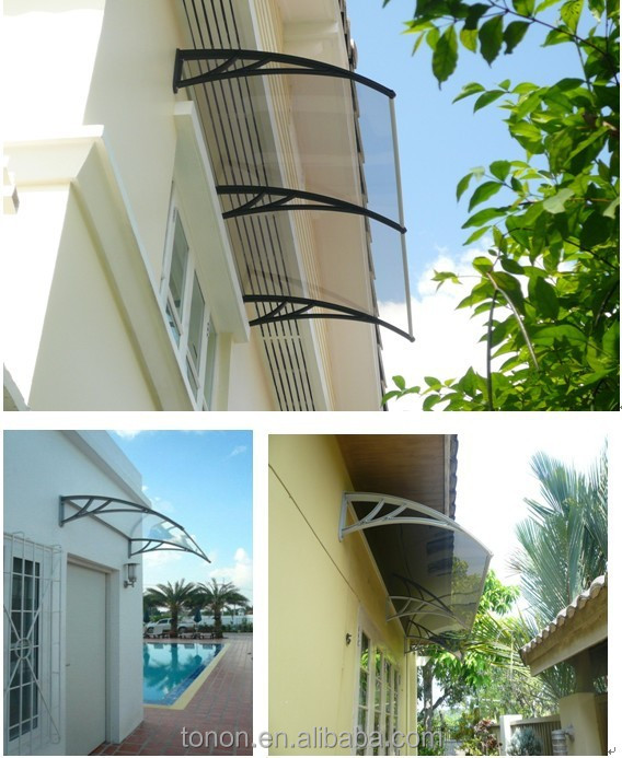 polycarbonate canopy, protect sun and rain canopies /Canopies, Balcony Awnings Bracket