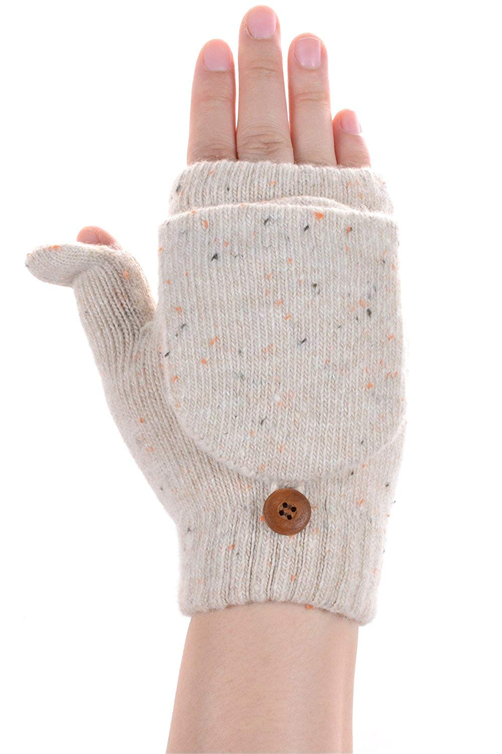 WindGoal Cute Boys Girls Kids Winter Knitted Warm Whole Covered Finger Mittens Gloves