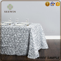 popular dollar general supplier silver table cloth for christmas events