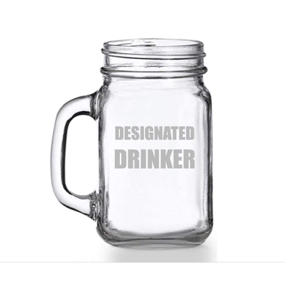 Designated Drinker Mason Jar Mug