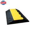 driveway 1-5 channels black durable rubber curb ramp