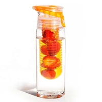 2019 800ml Customizable Cheap Plastic Fruit Filling Water Bottle and Fruit Infusion Bottle