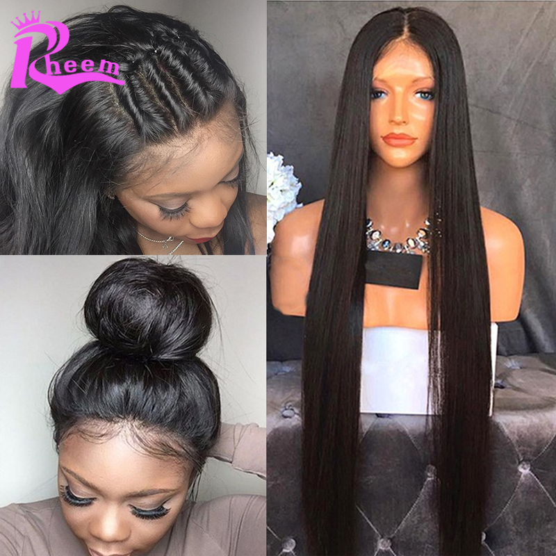 Full Lace Human Hair Wigs For Black Women Brazilian Straight Lace Front  Human Hair Wigs With Baby Hair Glueless Lace Front Wig c5a4165440