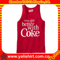 wholesale screen printed custom made design, 100% cotton comfort cheap boys wholesale tank tops