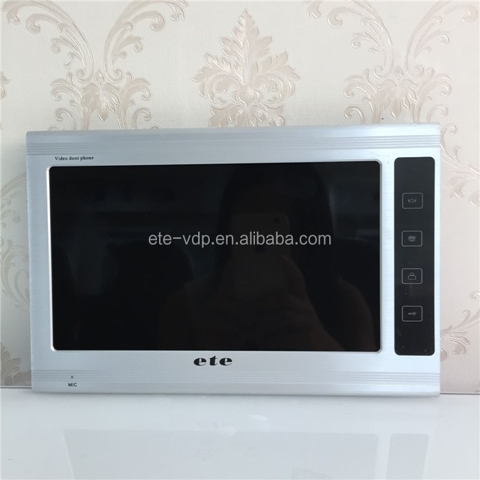 High resolution screen 100V-240V Power and CCD or CMOS Gate Camera video intercom 9 inch