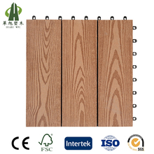 WPC natural timber like cheap interlocking composite deck tiles