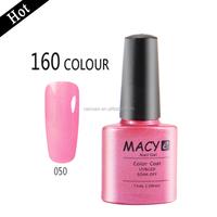 160 colors soak off uv/led nail gel polish ,free sample uv gel nail polish ,raw material from USA nail polish