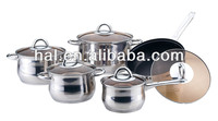 10 pcs Casserole Cookware Set With Iron Capsulated Bottom