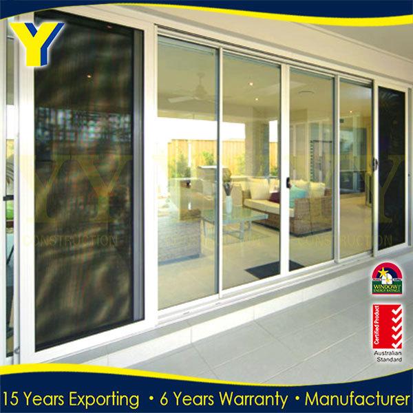 70s Aluminum Sliding Door Commercial Double Glass Doors Security