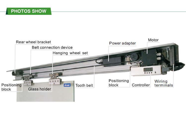 High Quality Automatic Sliding Doors Infrared Sensor CE/ DC Automatic Door /auto Sliding  Door Closer