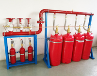 stainless steel fire extinguisher cabinet fm200 and extinguishers