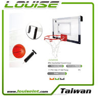 Height adjustable mini basketball hoop set