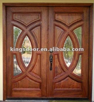 2017 Most Por Front Entrance Wooden Veneer Door Double Ksn 003