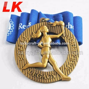 Marathon award 3D design medal running sports finisher medal for sale