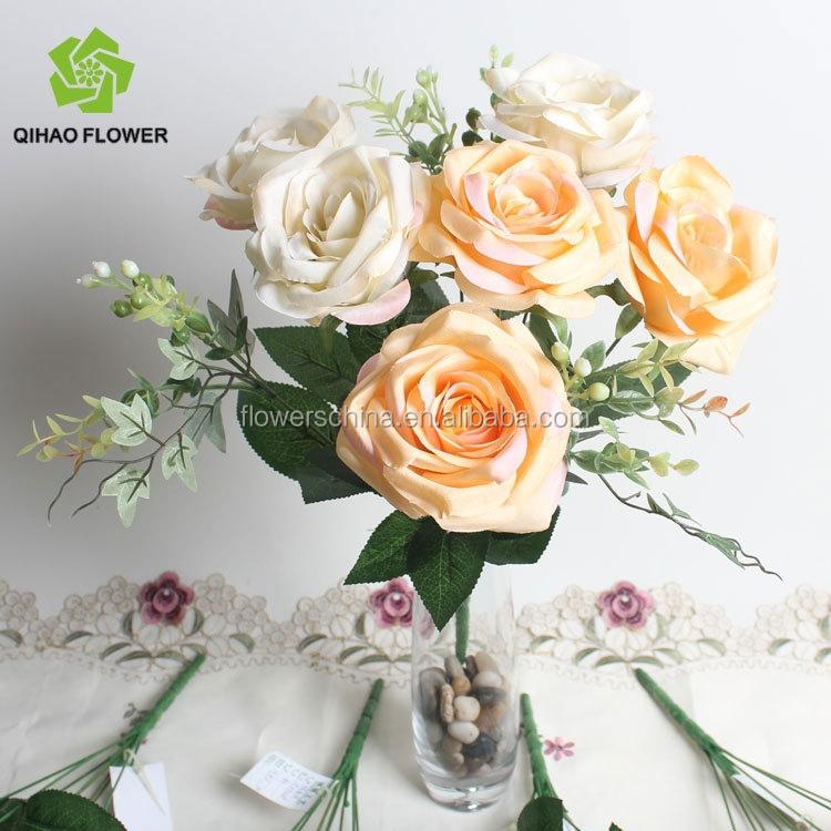 Artificsl Flower Handmade Rosr Flower . Rose Wedding Bouquet