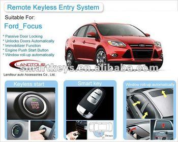 Keyless Start Engine Car Alarm Starline Remot Control For Ford Focus