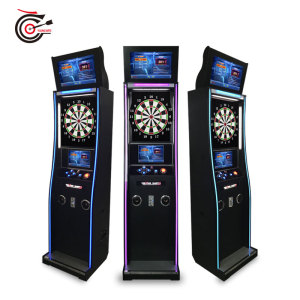 minimalist-design soft tip electronic darts machine