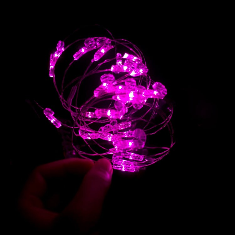 Mini Copper String Lights Battery Operated Led Invisible Fairy ...