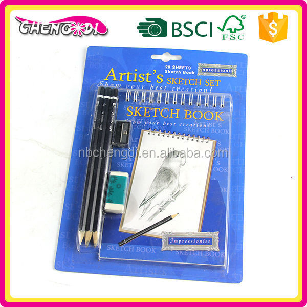 From China Supplier pencil sketch pad, pen touch pad, pen and diary set