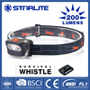 STARLITE Low Battery Warning survival whistle 200 lumens best headlights on the market