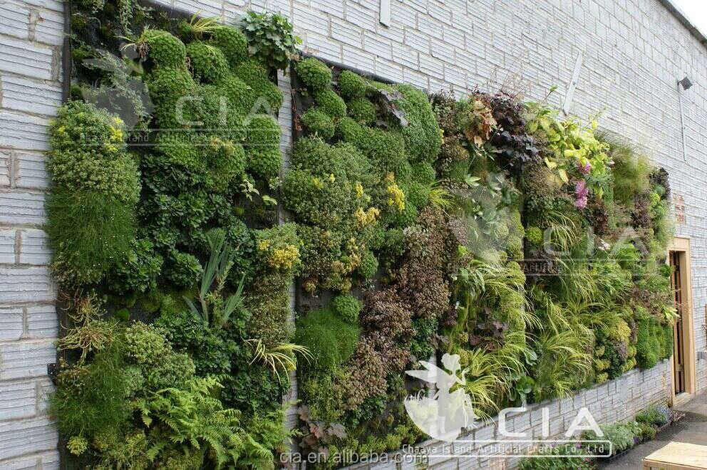 Jard n vertical pared verde artificial para la decoraci n for Plantas artificiales jardin vertical