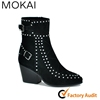 KAI-5901 New design women ladies sexy booties ladies handmade shoes wholesale ladies suede shoes